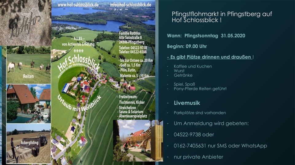 Pfingstflohmarkt Hof Schlossblick